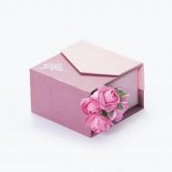 Коробочка розовая для колец