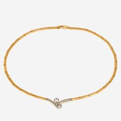 Золотое колье с цирконием, арт. 020421.03.04