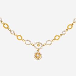 Золотое колье с цирконием, арт. 020421.03.05