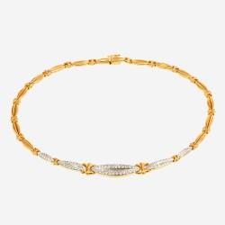 Золотое колье с цирконием, арт. 020421.03.13