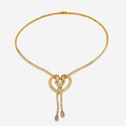 Золотое колье с цирконием, арт. 020421.03.14