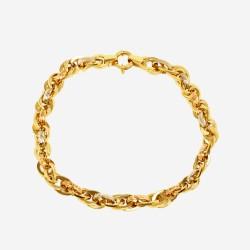 Золотой комплект колье и браслет, арт. 020421.03.15