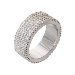Серебряное кольцо: размер 17.5, вес 10.8 гр.