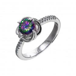 Серебряный комплект кольцо и серьги: размер 17.5, вес 8.65 гр.