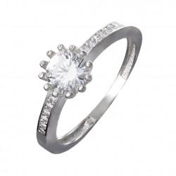 Серебряное кольцо: размер 18, вес 2.07 гр.