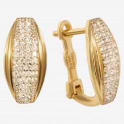 Золотые серьги с цирконием, арт. 080421.03.02