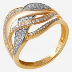 Золотое кольцо с цирконием арт. 090821.05.05