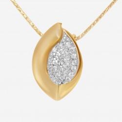 Золотая подвеска с цирконием, арт. 120421.03.06