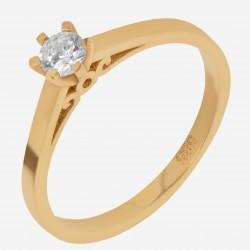 Золотое помолвочное кольцо, арт. 120621.04.07