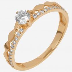 Золотое помолвочное кольцо, арт. 120621.04.09