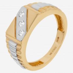 Мужское золотое кольцо, арт. 140621.04.09