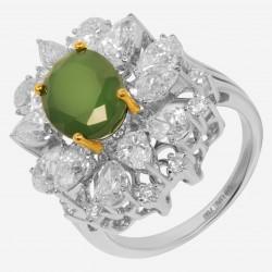 Золотое кольцо с бриллиантом, арт. 160421.04.02
