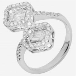 Золотое кольцо с бриллиантом, арт. 160421.04.03