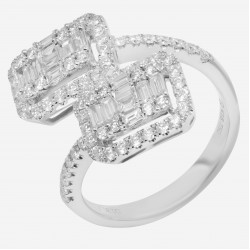 Золотое кольцо с бриллиантом, арт. 160421.04.04