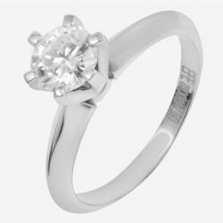 Золотое помолвочное кольцо с бриллиантом, арт. 160421.04.05
