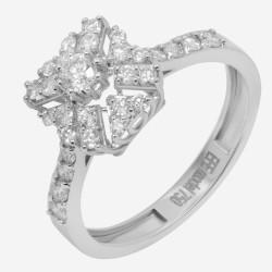 Золотое кольцо с бриллиантом, арт. 160421.04.08