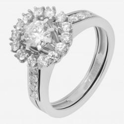 Золотое кольцо с бриллиантом, арт. 160421.04.09