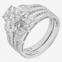 Золотое кольцо с бриллиантом, арт. 160421.04.11