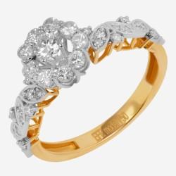 Золотое кольцо с бриллиантом, арт. 160421.04.13