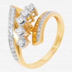 Золотое кольцо с бриллиантом, арт. 160421.04.14
