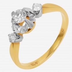 Золотое кольцо с бриллиантом, арт. 160421.04.16