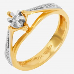 Золотое кольцо с бриллиантом, арт. 160421.04.19