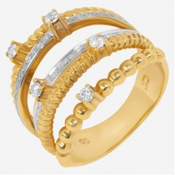 Золотое кольцо с бриллиантом, арт. 160421.04.20
