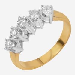 Золотое кольцо с бриллиантом, арт. 160421.04.21