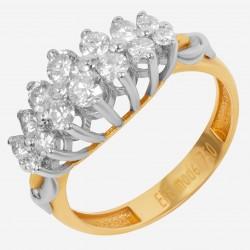 Золотое кольцо с бриллиантом, арт. 160421.04.22