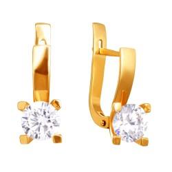 Золотые серьги 160821.06.07