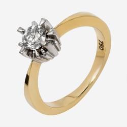 Золотое помолвочное кольцо с бриллиантом, арт. 170421.04.01