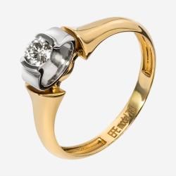 Золотое помолвочное кольцо с бриллиантом, арт. 170421.04.03