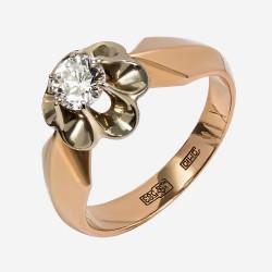 Золотое кольцо с бриллиантом, арт. 170421.04.12