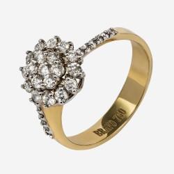 Золотое кольцо с бриллиантом, арт. 170421.04.13
