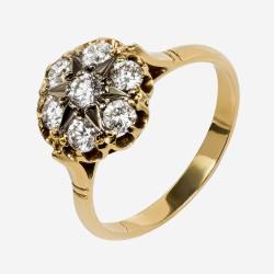 Золотое кольцо с бриллиантом, арт. 170421.04.14