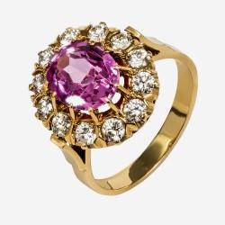 Золотое кольцо с бриллиантом, арт. 170421.04.17