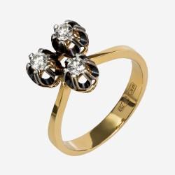 Золотое кольцо с бриллиантом, арт. 170421.04.18
