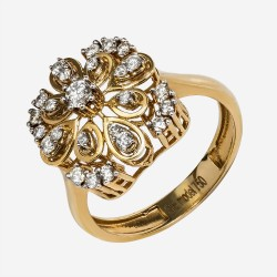 Золотое кольцо с бриллиантом, арт. 170421.04.19
