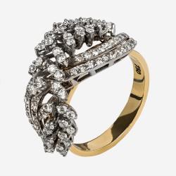 Золотое кольцо с бриллиантом, арт. 170421.04.20