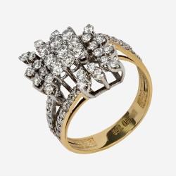 Золотое кольцо с бриллиантом, арт. 170421.04.21