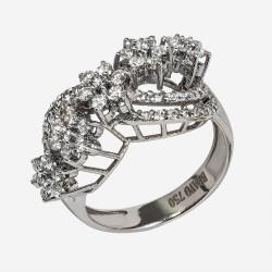 Золотое кольцо с бриллиантом, арт. 170421.04.23