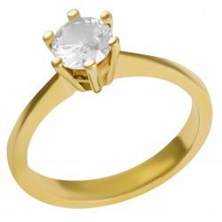 Золотое помолвочное кольцо, арт. 180821.07.04