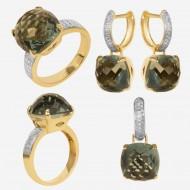 Золотая комплект с  бриллиантом, арт. 200421.04.11
