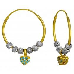 Золотые серьги с цирконием, арт. 200821.07.14