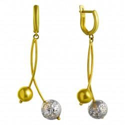 Золотые серьги с цирконием, арт. 200821.07.20