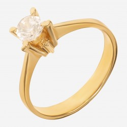 Золотое помолвочное кольцо арт. 220321.03.06