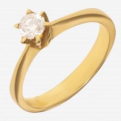 Золотое помолвочное кольцо арт. 220321.03.07