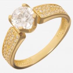 Золотое помолвочное кольцо арт. 220321.03.09