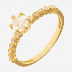 Золотое помолвочное кольцо арт. 220321.03.18