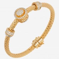 Золотой браслет с бриллиантом, арт. 220621.04.09